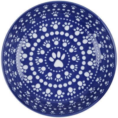 ORE Pet Speckle & Spot Ceramic Bowl - Bandana Blue - 2 cups