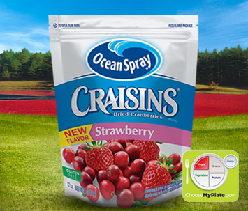 Ocean Craisins Dried Cranberries Strawberry Flavored
