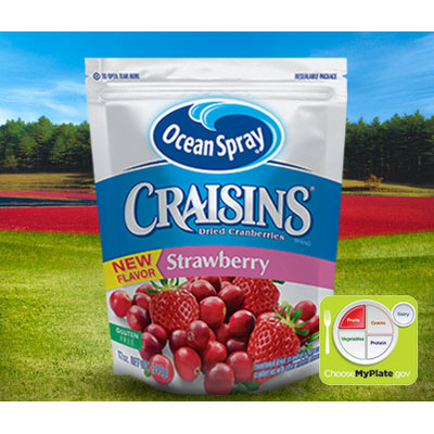 Ocean Craisins Dried Cranberries Strawberry Flavored