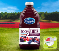 Ocean Spray 100% Juice Cranberry Blueberry Blackberry