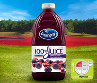 Ocean Spray 100% Juice Cranberry Concord Grape