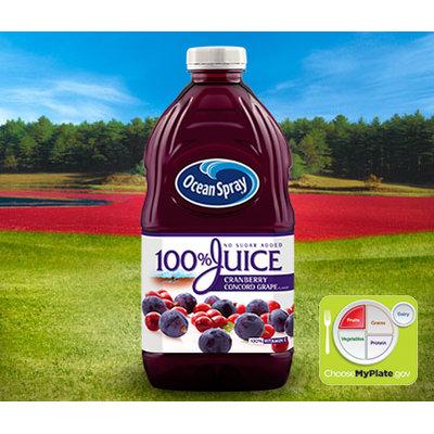 Ocean Spray 100% Juice Cranberry Concord Grape
