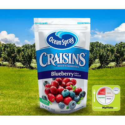 Ocean Spray Craisins Dried Cranberries Blueberry Juice Infused