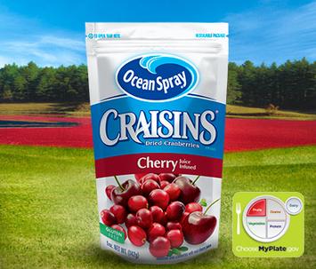 Ocean Spray Craisins Dried Cranberries Cherry Juice Infused