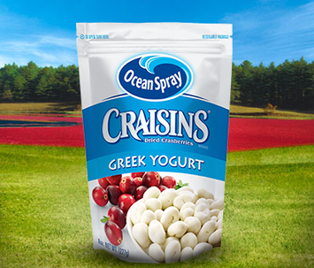 Ocean Spray Craisins Dried Cranberries Greek Yogurt