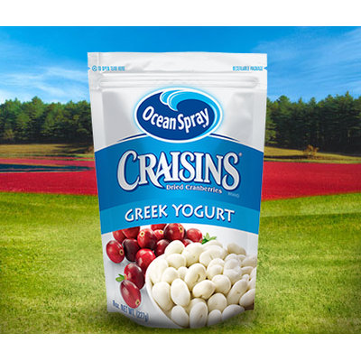 Ocean Spray Craisins Dried Cranberries Greek Yogurt