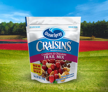 Ocean Spray Craisins Dried Cranberries Trail Mix Cranberries & Chocolate
