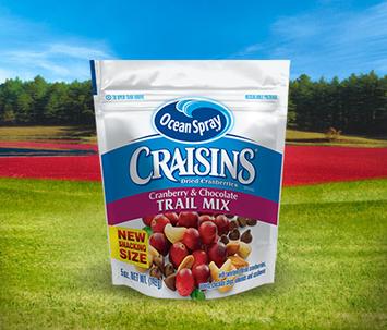 Ocean Spray Craisins Dried Cranberries Trail Mix Cranberries & Chocolate