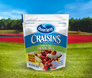 Ocean Spray Craisins Dried Cranberries Trail Mix Fruit & Nuts