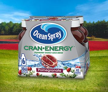 Ocean Spray Cran Energy Cranberry Pomegranate Energy Juice Drink