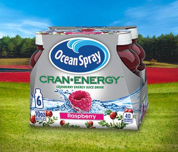 Ocean Spray Cran Energy Cranberry Raspberry Energy Juice Drink