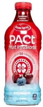 Ocean Spray Pact Fruit Infusions Juice Cranberry Cherry Blueberry