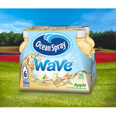 Ocean Spray Wave Juice Drink Apple with White Cranberries