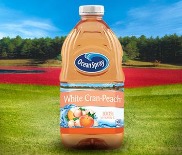 Ocean Spray White Cran Peach White Cranberry and Peach Juice Drink