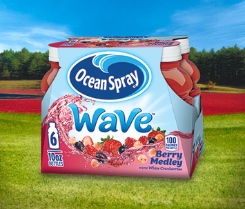 Ocean Spray  Wave Juice Drink Berry Medley with White Cranberries