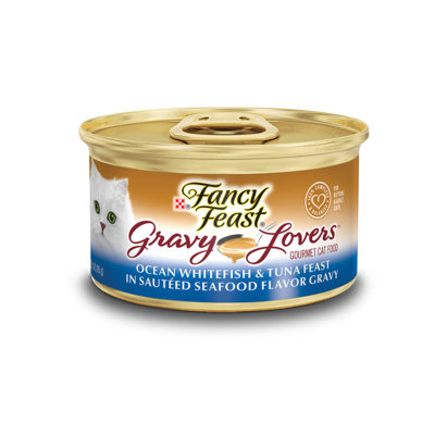 Fancy Feast® Gravy Lovers™ Ocean Whitefish & Tuna Wet Cat Food In A Sautéed Seafood Flavor Gravy