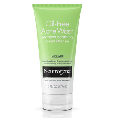Neutrogena® Oil-Free Acne Wash Redness Soothing Cream Cleanser