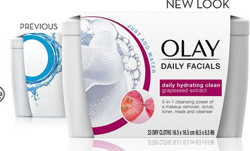 Olay Daily Facial Hydrating Cleansing Cloths W Grapeseed Extract Makeup Remover