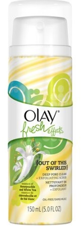 Olay Fresh Effects Out Of This Swirled! Deep Pore Clean Plus Exfoliating Scrub,Essence of Honeysuckle & White Tea