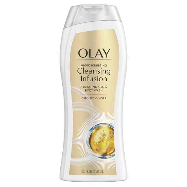 Olay Microscrubbing Cleansing Infusion Crushed Ginger Body Wash