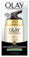 Olay Total Effects Anti Aging Fragrance free Moisturizer SPF 15