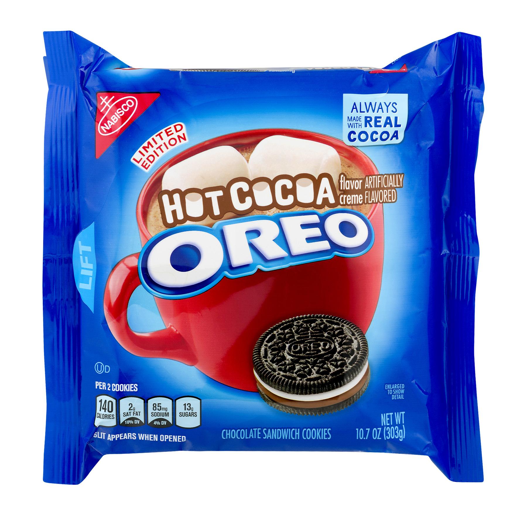 Oreo Hot Cocoa Chocolate Sandwich Cookies