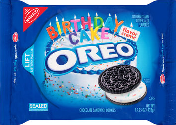 Nabisco Oreo Sandwich Cookies Chocolate  Birthday Cake