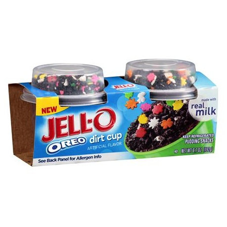 JELL-O Oreo Dirt Cup Pudding Snacks