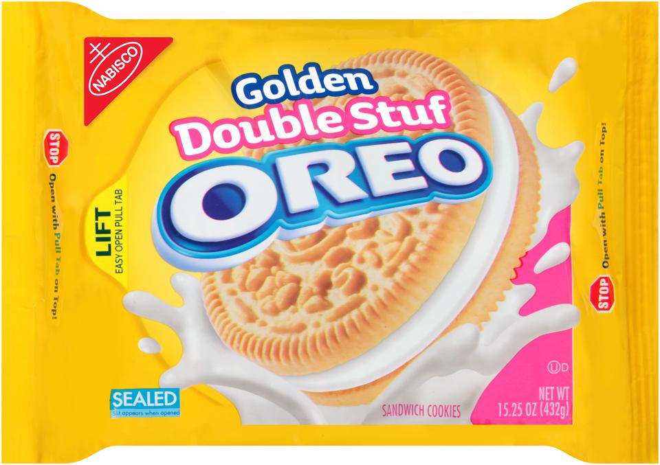 Nabisco Oreo - Sandwich Cookies - Double Stuff Golden