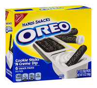 Nabisco Oreo Cookie Handi Snacks Packs Sticks 'N Creme Dip