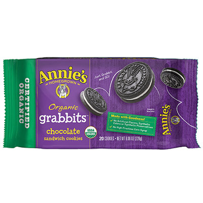 Annie's® Organic Grabbits Chocolate Sandwich Cookies