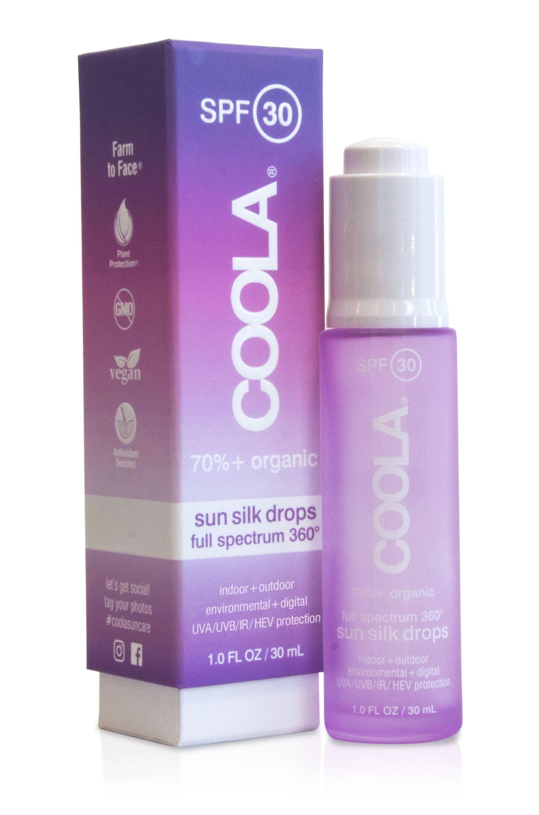 COOLA Organic SPF 30 Full Spectrum 360° Sun Silk Drops