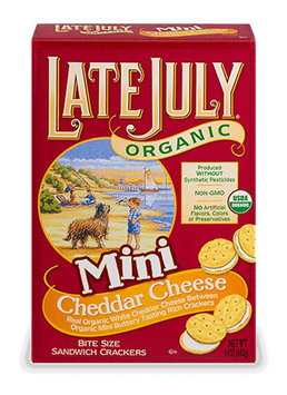 Late July® Snacks Classic Crackers Organic Sandwich Mini Cheddar Cheese