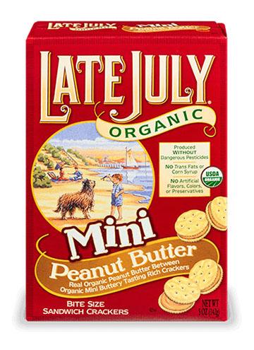 Late July® Snacks Classic Crackers Organic Sandwich Mini Peanut Butter