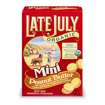 Late July® Snacks Classic Crackers Organic Sandwich Mini Peanut Butter