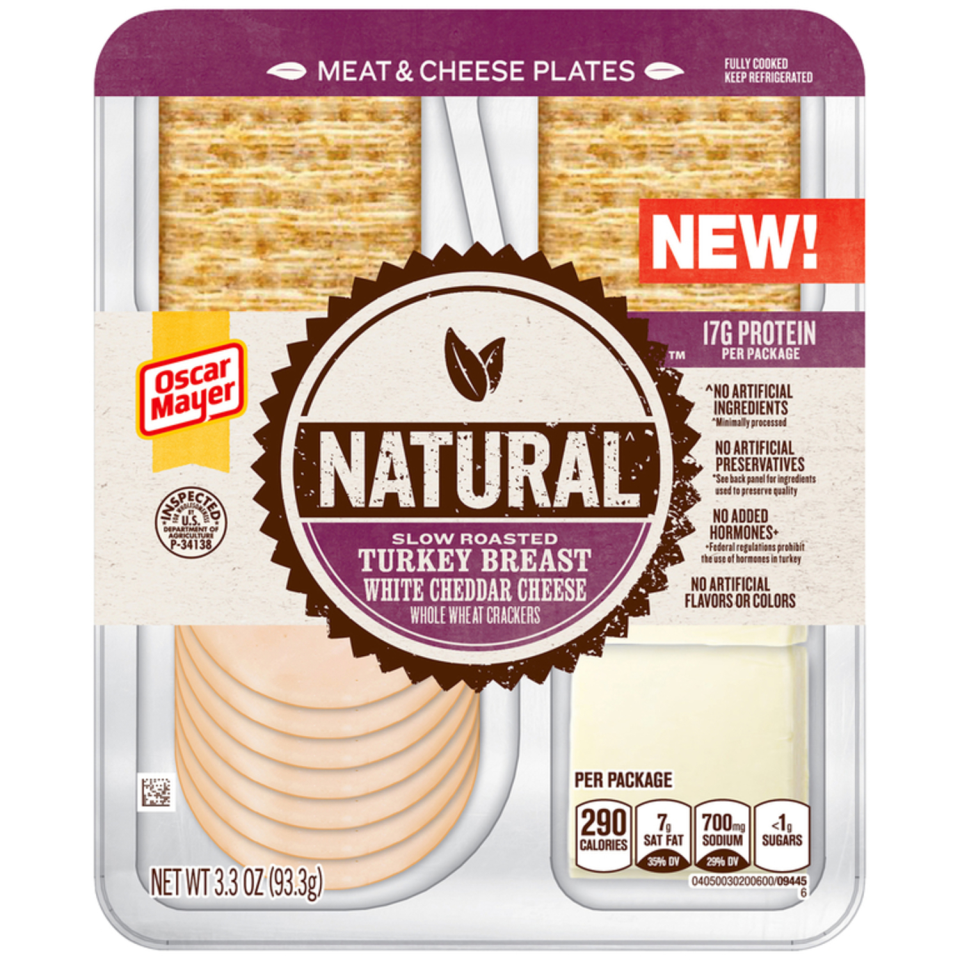Oscar Mayer Natural Slow Roasted Turkey & Cheddar Meat & Cheese Plates