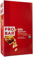 ProBar Bite Organic Snack Bar Peanut Butter Crunch 12 Bars - Vegan