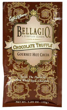 Bellagio Cocoa Mix, Chocolate Truffle, 1.25 oz, 25 ct