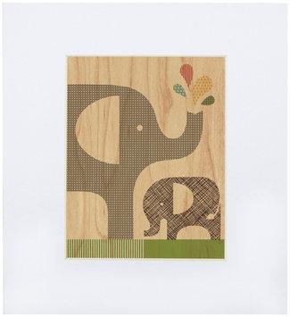 Petit Collage Small Unf Print On Wood-Elephant Calf
