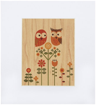 Petit Collage Small Unf Print On Wood-Owl Love