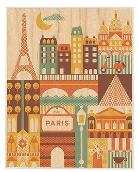 Petit Collage Large Unframed - Paris Print - 1 ct.