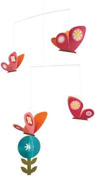 Petit Collage Spring Butterflies Paper Mobile - 1 ct.