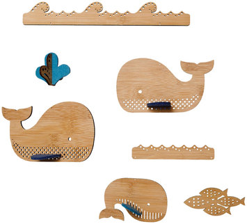 Petit Collage Bamboo Deluxe Mobile - Whale - 1 ct.