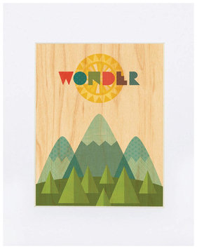 Petit Collage Small Unframed Print on Wood - Wonder