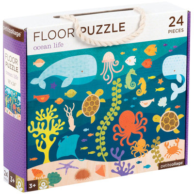 Petit Collage Floor Puzzle Ocean Life
