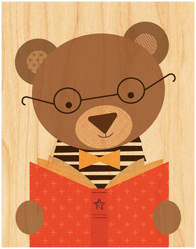 Petit Collage Small Unframed - Story Bear Print