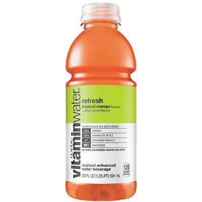vitaminwater Refresh  Tropical Mango
