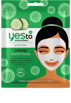 Yes To Cucumbers Calming Paper Mask – Single Use