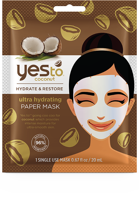Yes To Coconut Ultra Hydrating Paper Mask – Single Use