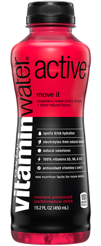 vitaminwater Active Strawberry Black Cherry Flavored Nutrient Enhanced Performance Drink
